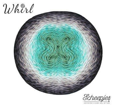 Minty Black Velvet Scheepjes Whirl yarn