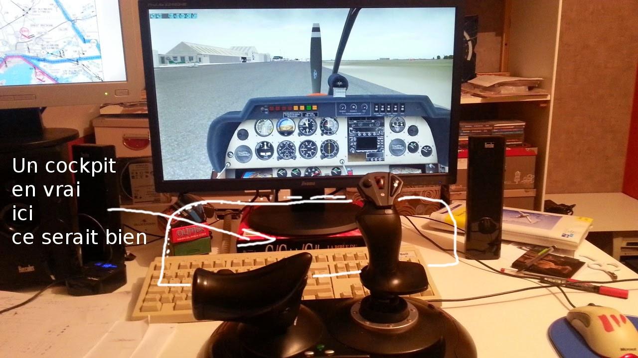 simulateur de vol cockpit pour xplane cockpit maison. Black Bedroom Furniture Sets. Home Design Ideas