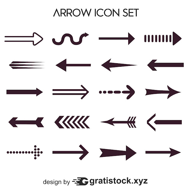 Free Download PNG Shape Of  Arrows Icons Set