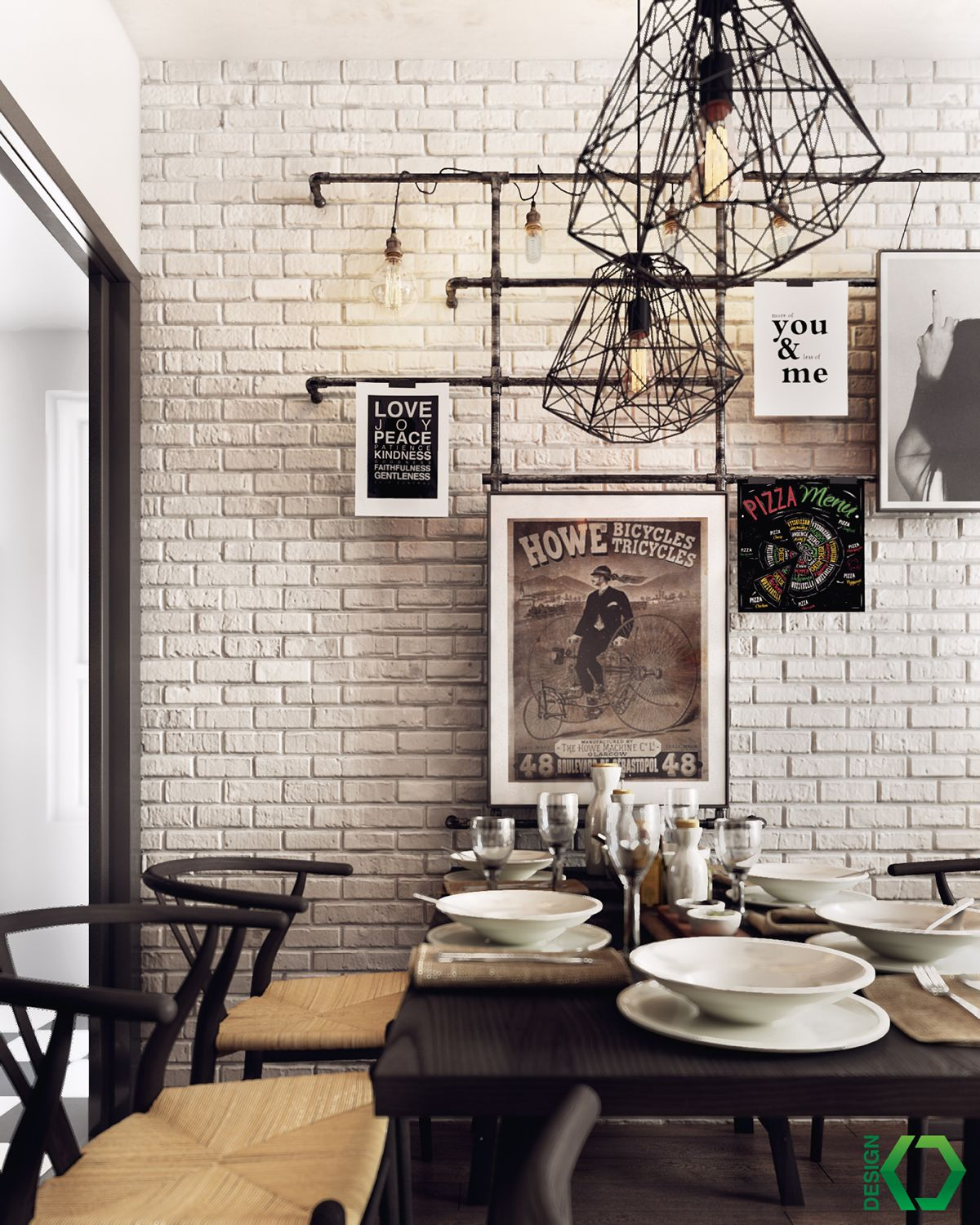 A Charming Industrial Apartment Inspired By Nordic Design