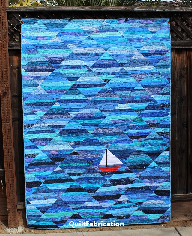 Seafarer string quilt by QuiltFabrication