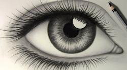 realistic eye draw easy