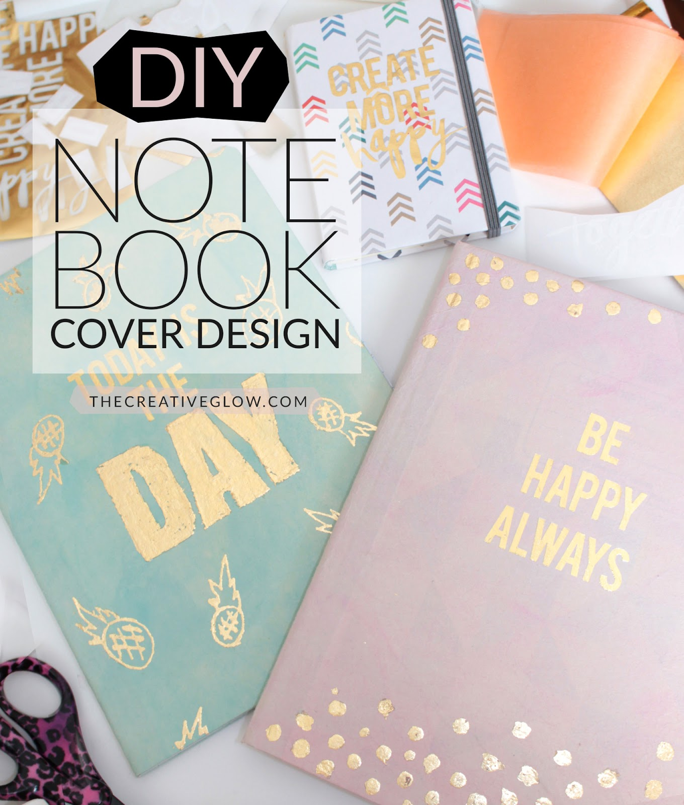 Diy Book Cover Design ~ Diy notebook re design designer look for less the