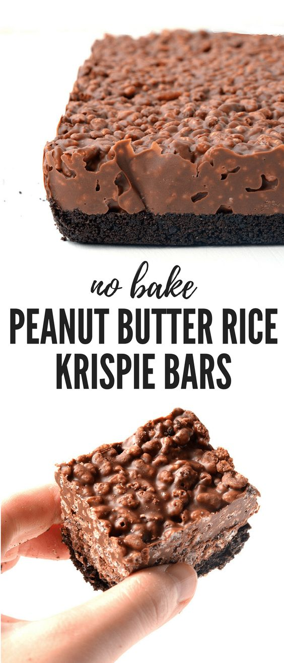 Easy Peanut Butter Rice Krispie Bars.