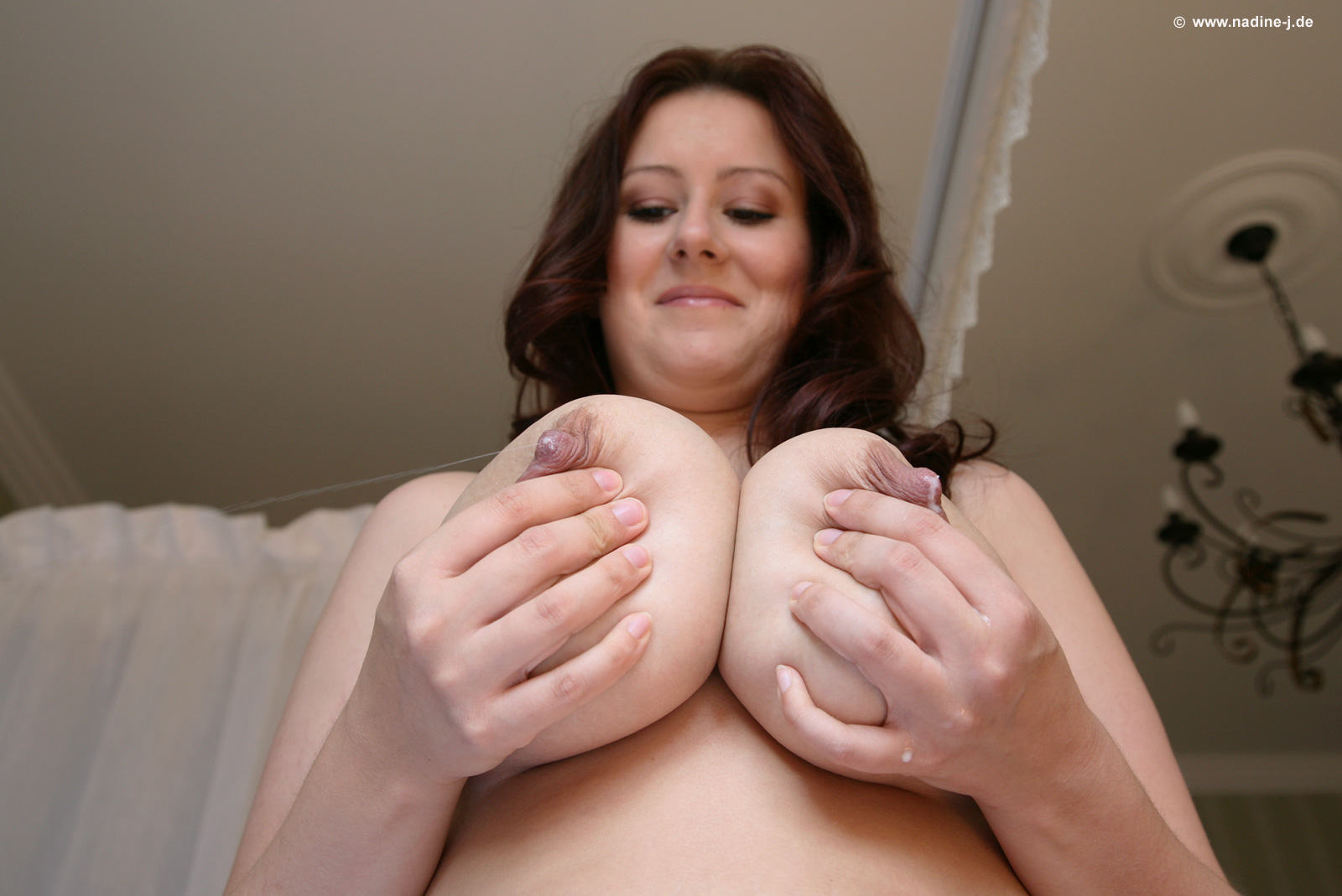 Natural boobs with puffy nipples