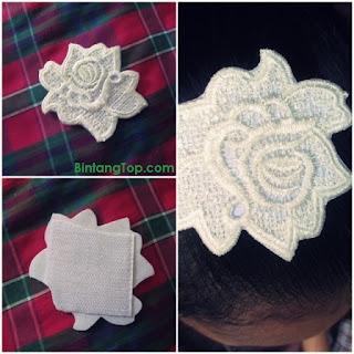 Penahan Poni Rambut dengan Renda Bunga – DIY