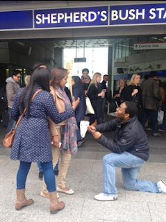 slap+1 - Photos: Man Received Hot slap after proposing to woman in public
