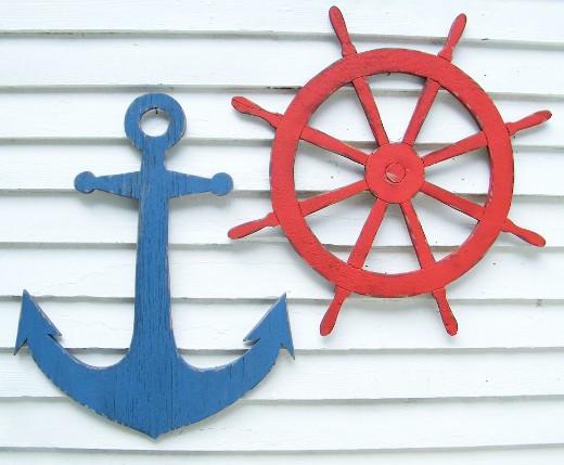 Nautical Wood Cutout Wall Decor Art