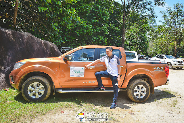 Driving a brand new Nissan Navara for our road trip to Tanjong Jara Resort