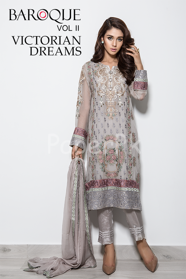 Baroque Summer / Spring Collection 2017 | Embroidered Swiss Lawn ...