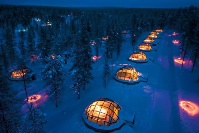 Hotel & Igloo Village Kakslauttanen, Saariselkä, Finlandia