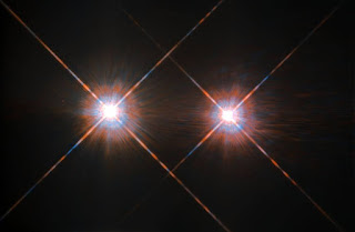 Close up of Alpha Centauri A and B, NASA photo