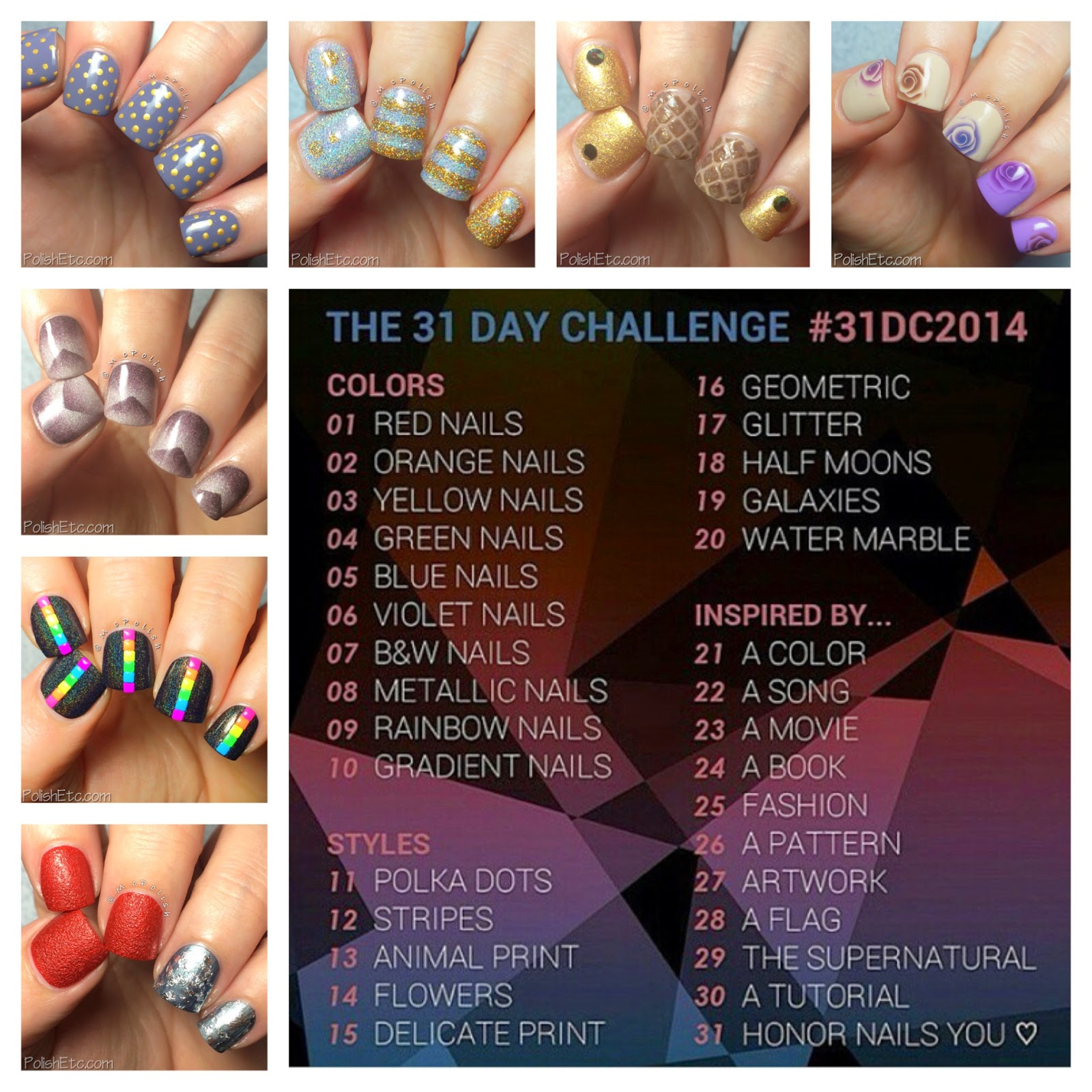31 Day Nail Art Challenge - #31dc2014 - McPolish