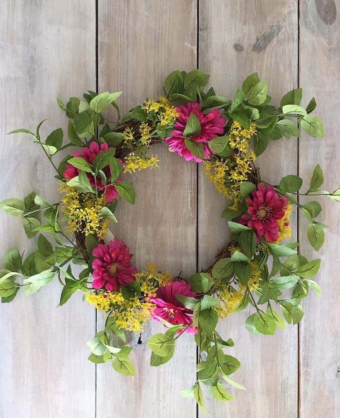 silk flower wreath Target