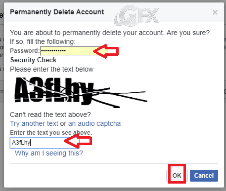 facebook CAPTCHA test