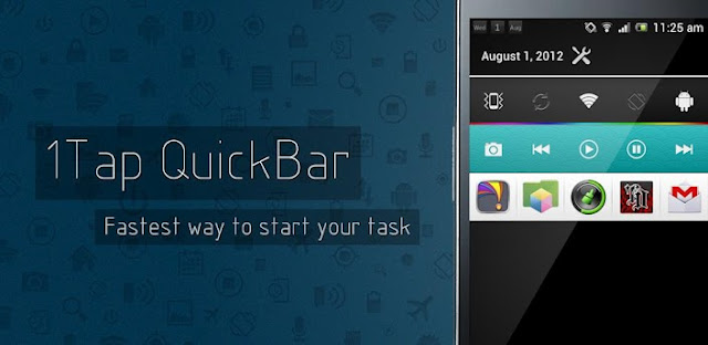 1Tap Quick Bar Pro v1.1.2 :: شريط مهام :: مباشر