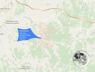 PETA Desa Cimayasari, Kecamatan Cipeundeuy