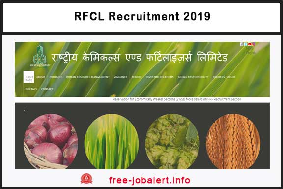 RCFL Recruitment 2019, National Chemical and Fertilizers Limited, Best Companies, RCFL,