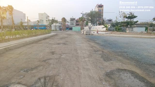 Đường nội bộ Đ16 khu đất nền Jamona Golden Silk quận 7.