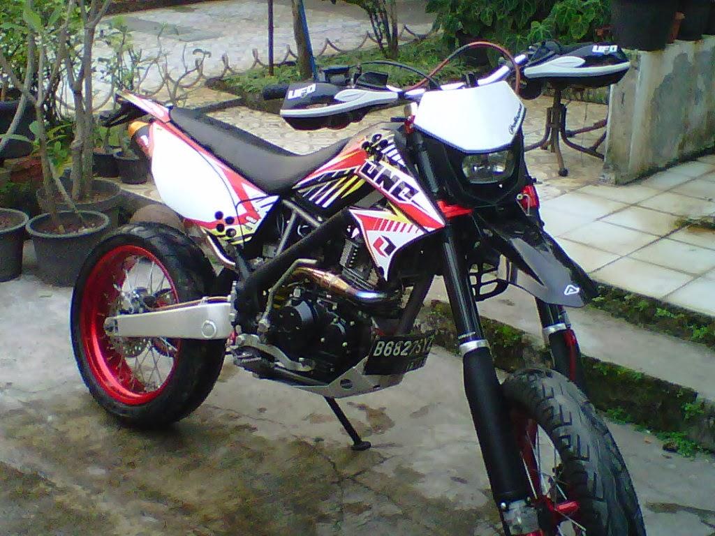 Foto Modifikasi Motor Kawasaki KLX 150S DTracker dan KLX