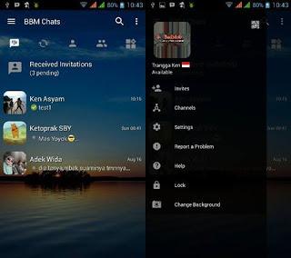 BBM MOD Transparan versi Terbaru 3.0.1.25 dan Versi Lama