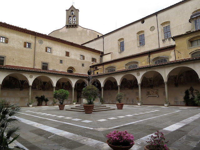 Chiostro dei Morti, Cloister of the Dead, Basilica della Santissima Annunziata, Basilica of the Most Holy Annunciation, Florence