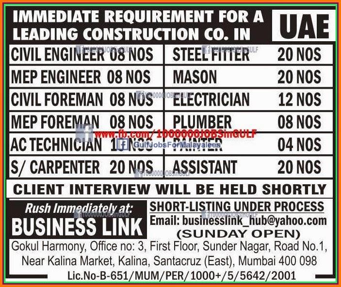 Visa Recruitment Various Engineer Posts Visa Co In 12