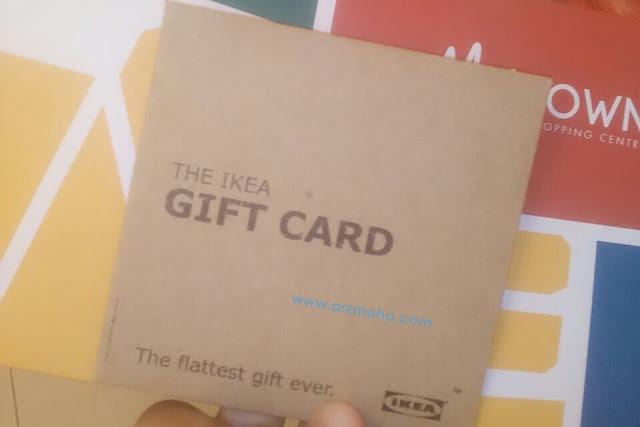 gift card ikea, hadiah, menang contest goosey selfie, menang contest sempena pembukaan mytown shopping centre,