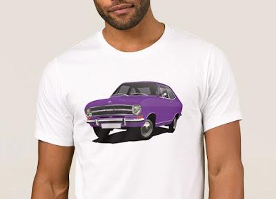 Opel Kadett B t-paidat violetti