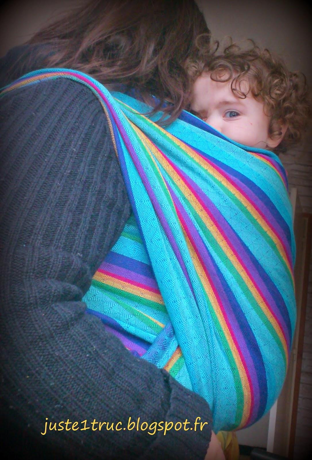 écharpe Vanamo wrap rainbow diamant laine extensible portage babywearing