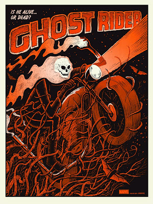 Mondo x Marvel Comic Book Screen Print Series - Ghost Rider Variant Screen Print by Methane Studios
