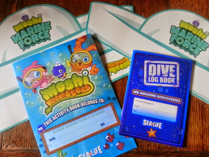 Moshi Monsters Arrive at Sea Life, Manchester Booklets and hats