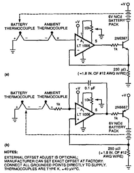 Temperature Sensing Nicad Battery Charger Circuit Diagram