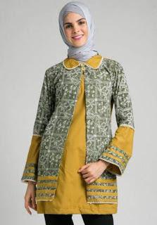 Atasan Batik Pesta Wanita Muslimah