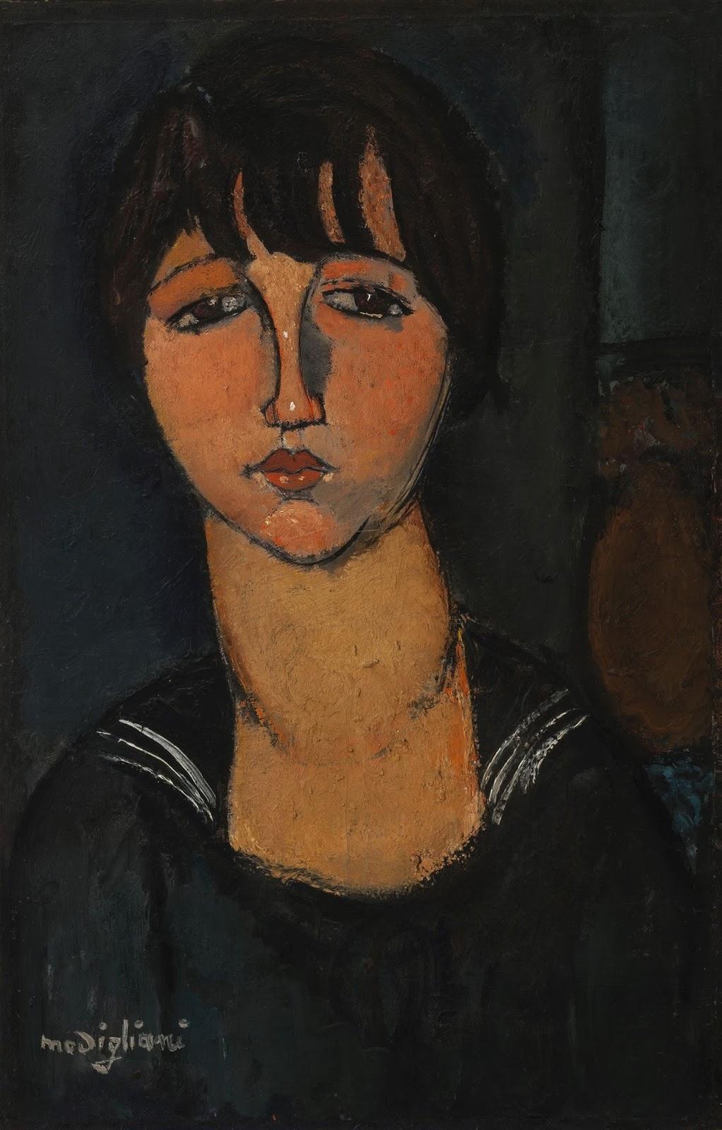 Fogli d'arte - ISSN 1974-4455: Una nuova opera alla Guggenheim. Arriva a  Venezia «Ragazza con il bavero alla marinara» di Modigliani