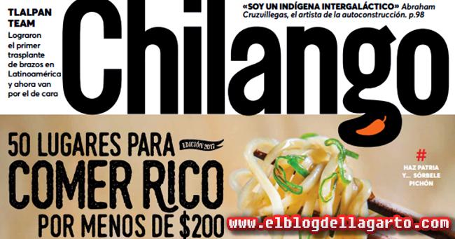 Revista Chilango México - 50 Lugares Para Comer Rico banner