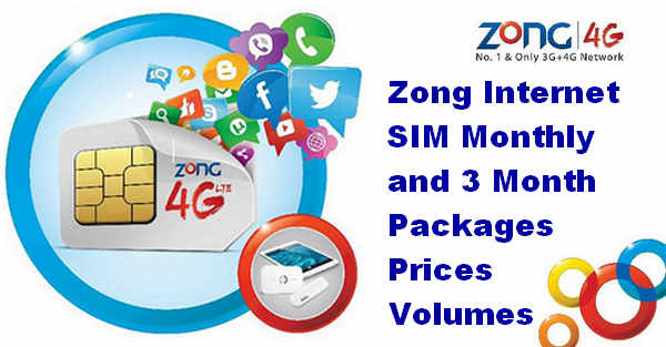 Zong Internet SIM Packages