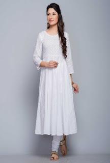 white kurta from Fabindia