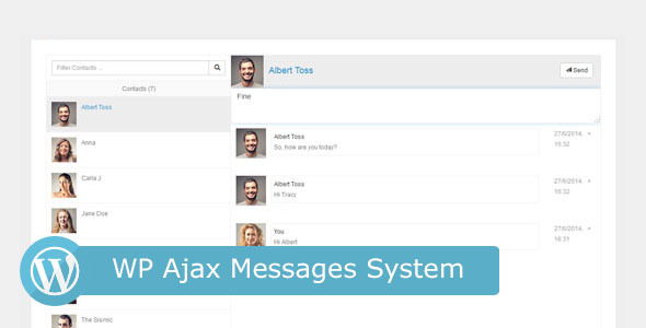 Free Download WP Ajax Messages System Wordpress Plugin
