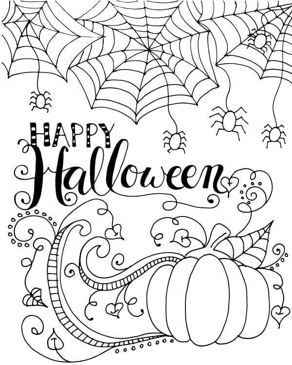 Halloween Coloring Pages World Of Makeup And Fashion