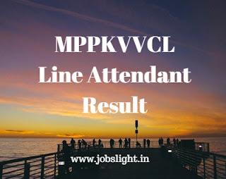 MPPKVVCL Line Attendant Result 2017 MPWZ LA Exam Cut Off Marks