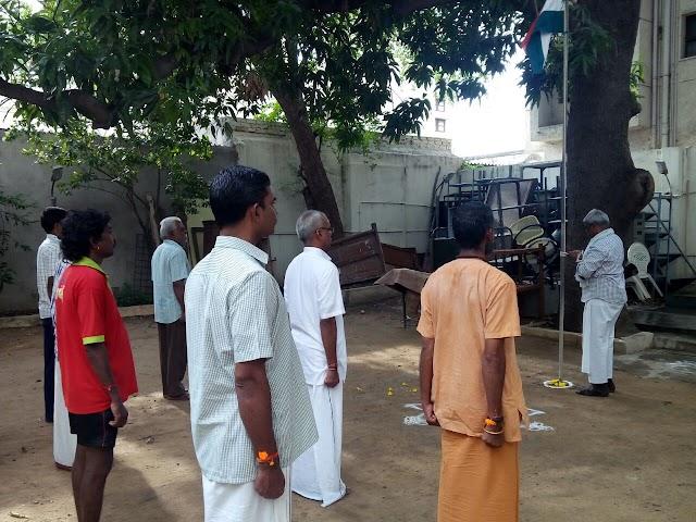 Independence day celebrations at Sakthi Karyalaya