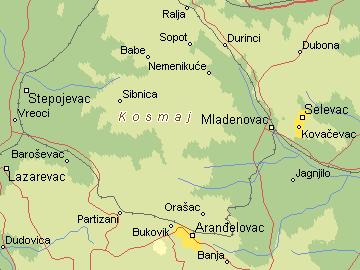 kosmaj mapa Per@ Travel: KOSMAJ kosmaj mapa