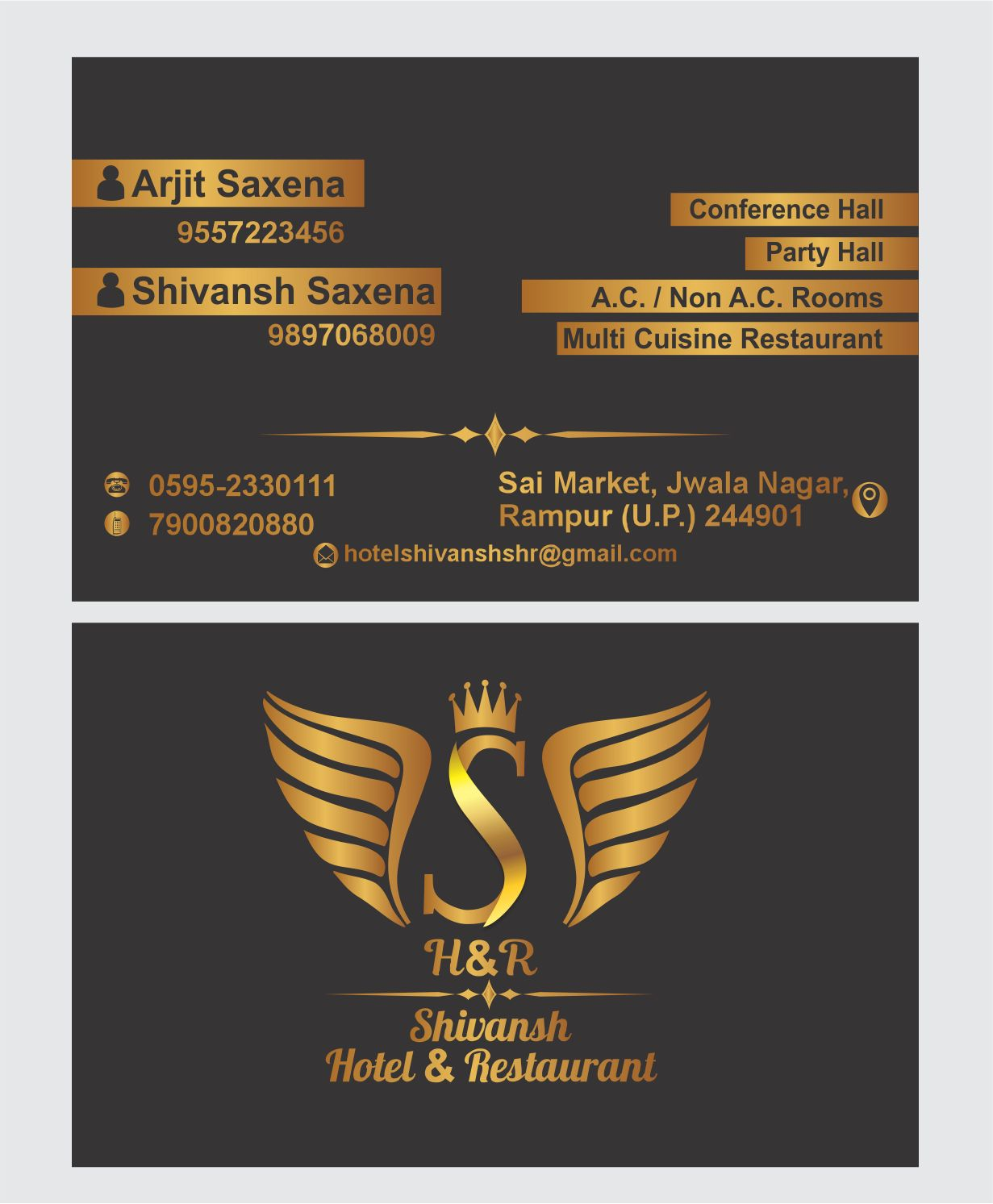 Hotel Shivansh Visiting Card or Business Card CDR File Free Download ...