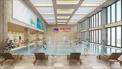 Bể bơi bốn mùa tại chung cư Phú Mỹ
