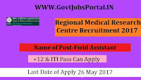 Regional Medical Research Center Recruitment 2017– Project Technician, Field Assistant