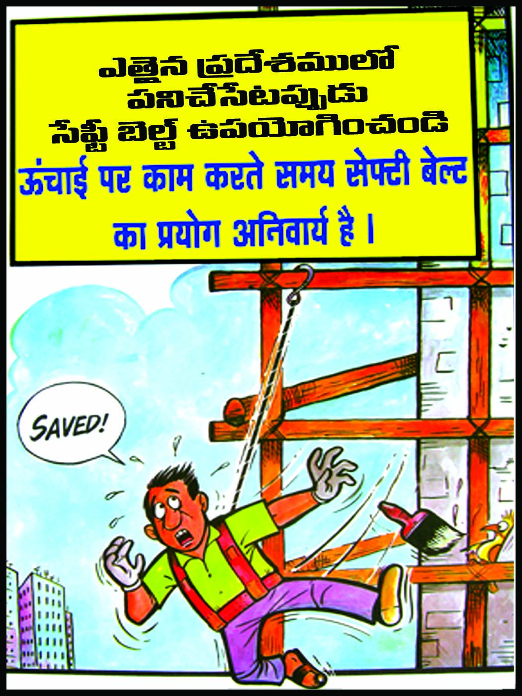 Heat Stress Safety Poster In Hindi