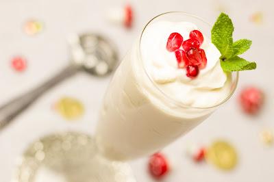 Prosecco-Creme mit Granatapfel