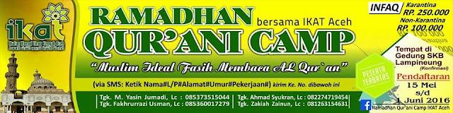 ramadhan qurani camp bersama IKAT Aceh
