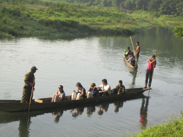 Cannon trip in chitwan
